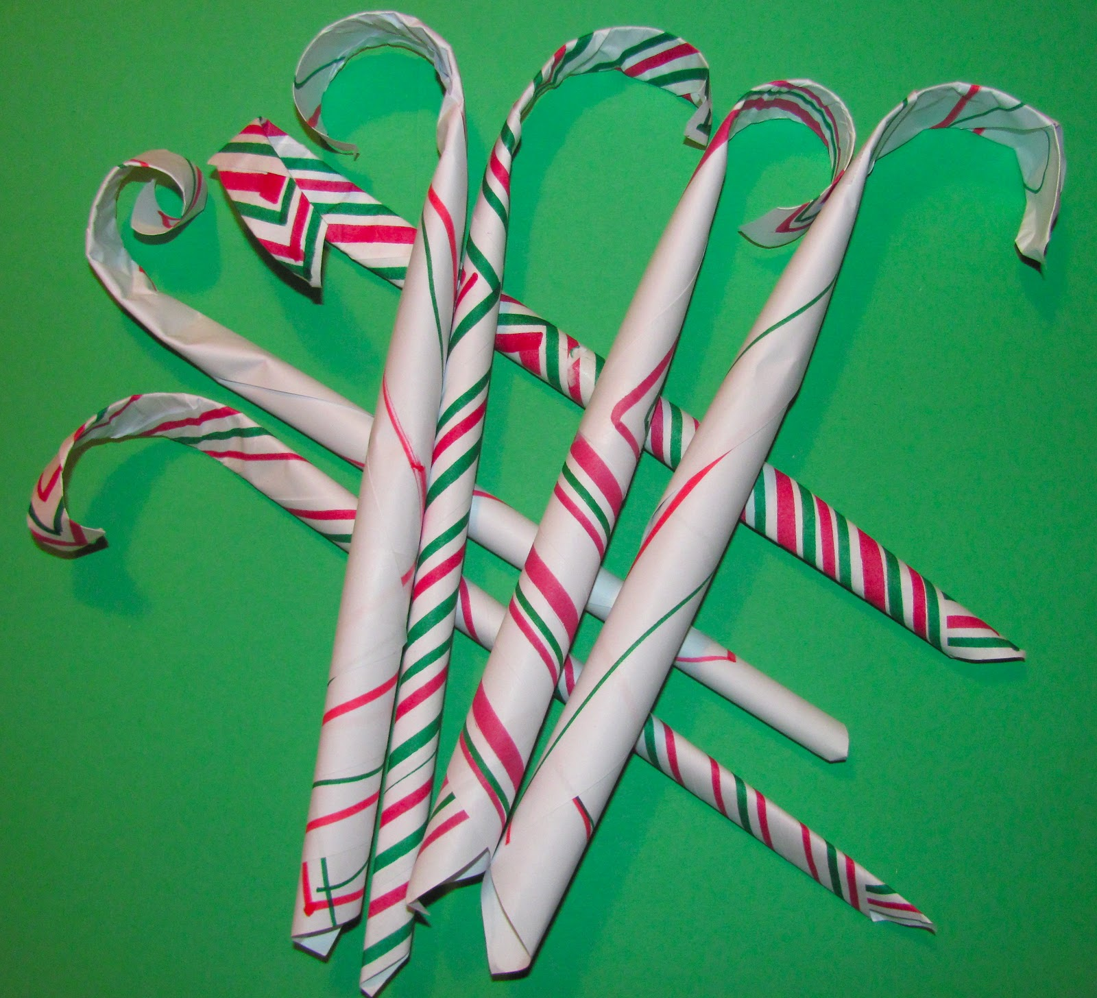The Chocolate Muffin Tree Paper Candy Canes