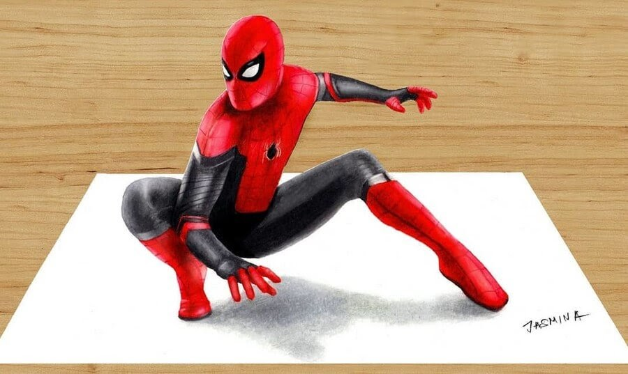 09-Spider-Man-Jasmina-Susak-3D-and-2D-Comic-Book-Superheroes-and-Video-www-designstack-co