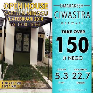 Overkredit Rumah TAnah Luas 120 m2 Di Ciwastra Derwati Kodya Bandung