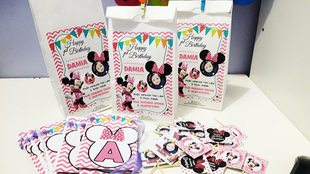 birthday tema mini mouse