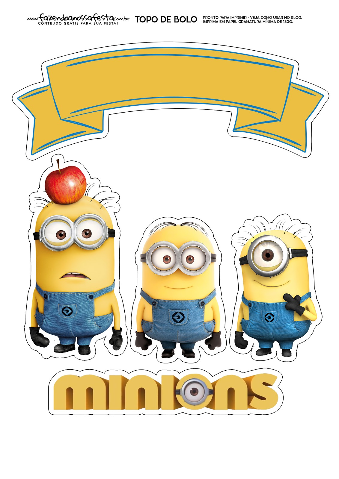 picture relating to Minions Printable identify Minions: Cost-free Printable Cake Toppers. - Oh My Fiesta! within english
