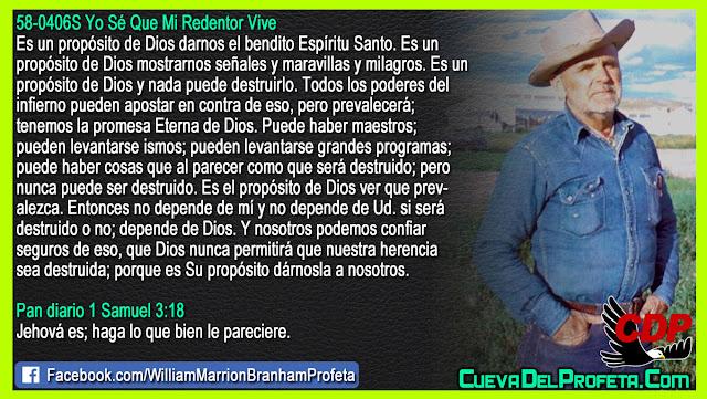 Cuál es el propósito de Dios - Citas William Branham Mensajes