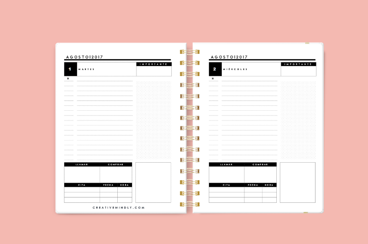 Creative mindly crea tu propia agenda y 1000 dise os de for Agendas de oficina