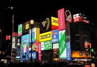 Dotomboria Shopping Night Osaka Japan