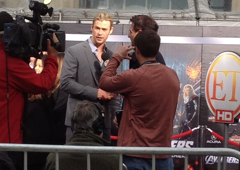 Chris Hemsworth Avengers World Premier Hollywood