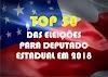 Os 50 deputados mais votados no Amazonas