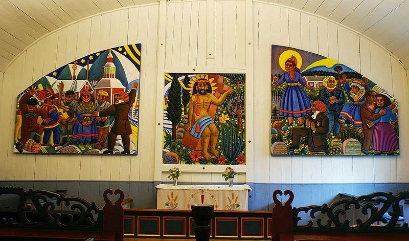 Bildresultat för jukkasjärvi kyrka altartavla sommar