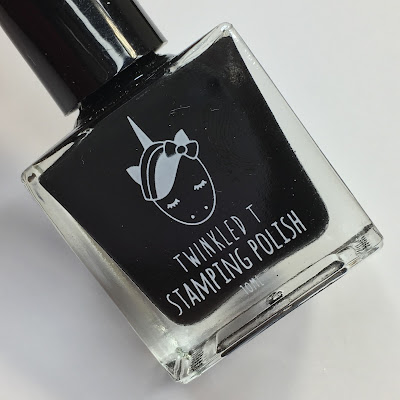 twinkled t vibin' black stamping polish review