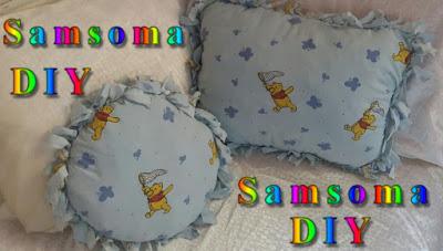 اصنعي بنفسك غشاء وسادات بدون خياطة .  وسادة بدون خياطة . عمل وسادة بدون خياطة  . DIY Pillow Cover  without sewing .  pillow case . DIY no sew cushion cover DIY: Decorative Pillows  .  . DIY Pillow Cover  .