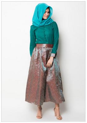 Model Pakaian Kemeja Muslim Wanita Modern Terbaru