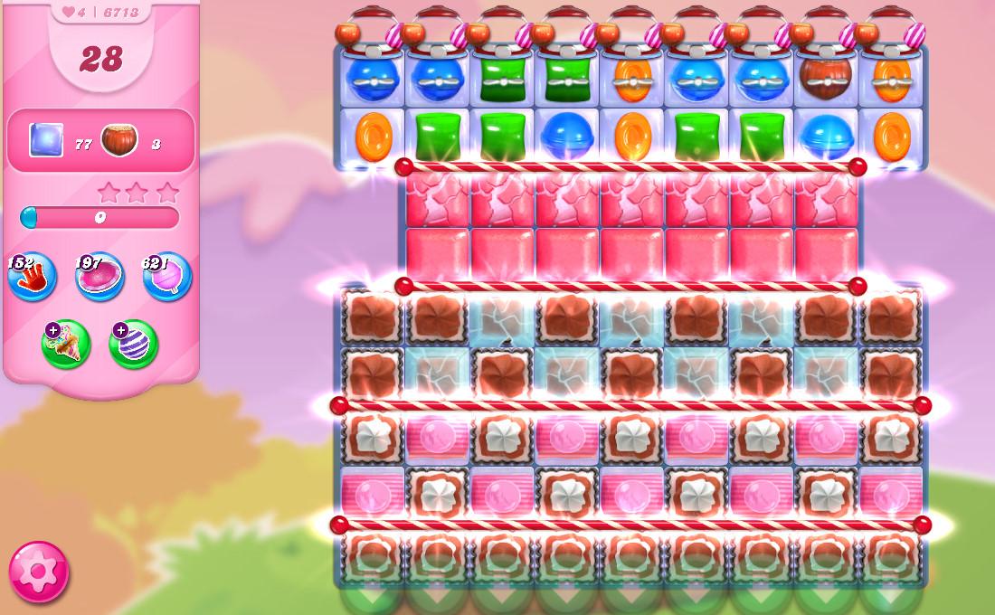 Candy Crush Saga level 6713