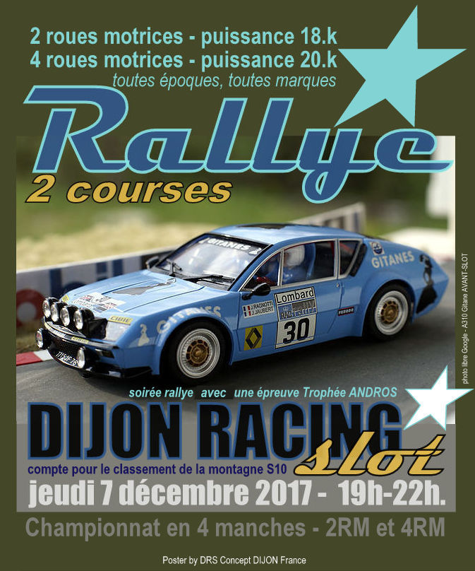 rallye 4 roues motrices du 7 12 2017 dijon racing slot blog officiel du circuit routier. Black Bedroom Furniture Sets. Home Design Ideas