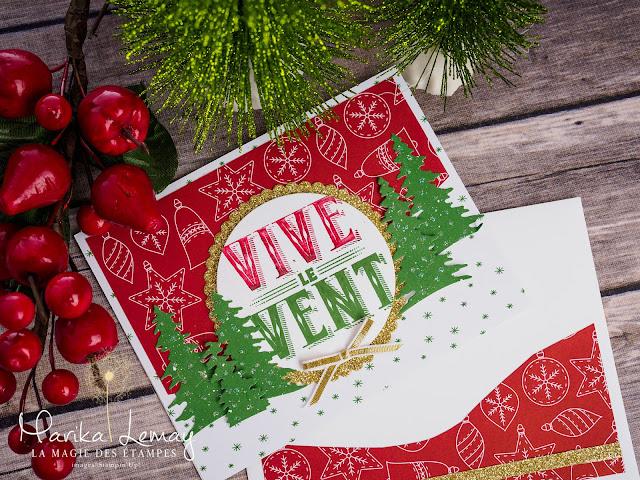 carte de Noël avec le jeu Cantiques de Noël Stampin' Up!