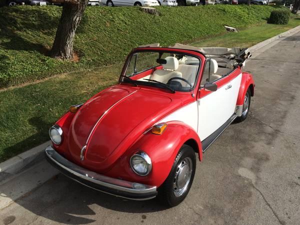 Classic Volkswagen Beetle Convertible