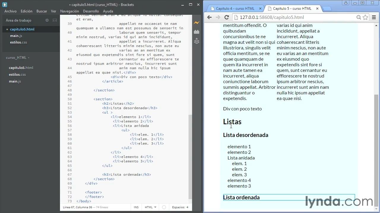 Listas en HTML