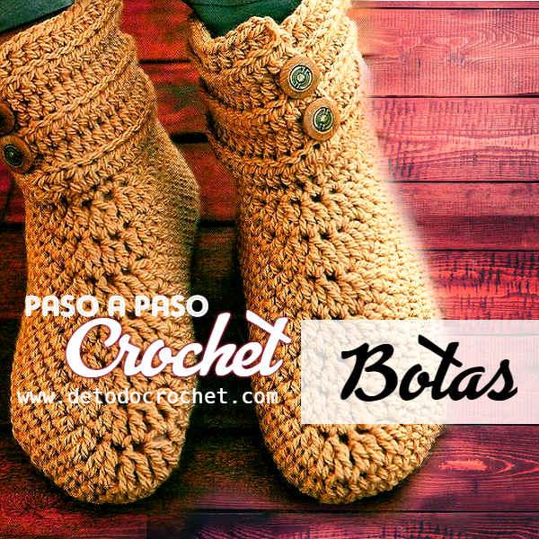 como-se-tejen-las-botas-a-crochet