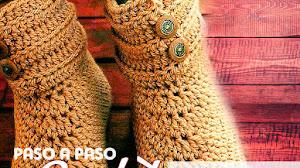 Patrones de Botas Crochet con explicación en español / Paso a paso