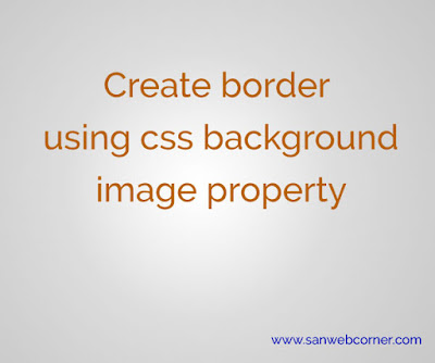 Create Border  using css background property