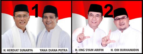 Dua pasang calon Bupati dan wakil Bupati Kabupaten Ciamis 2018