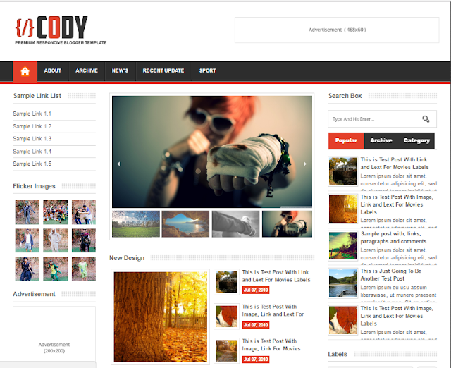 cody responsive blogger template