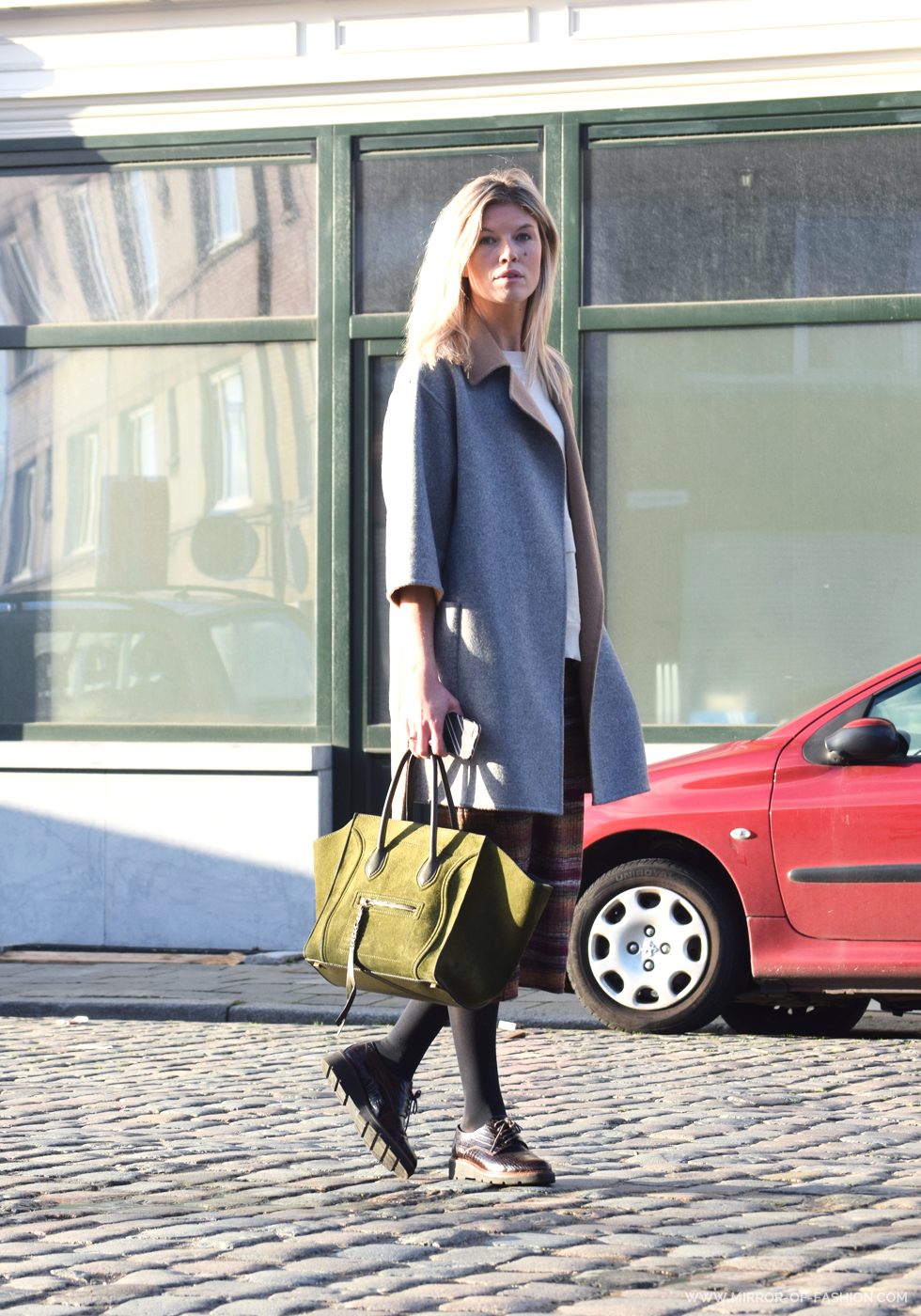 Max Mara, By Malene Birger, Céline, Zara, Falke, BeOriginal, Outfit of the day, midi skirt,