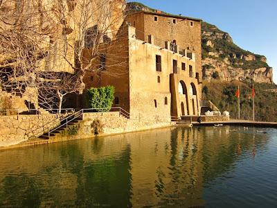 Priory house and pond in Sant Miquel del Fai