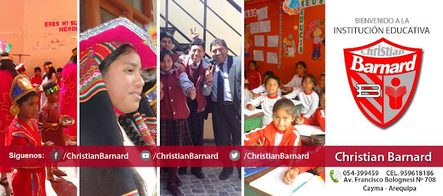 Mejor colegio de Cayma-Arequipa Christian Barnard