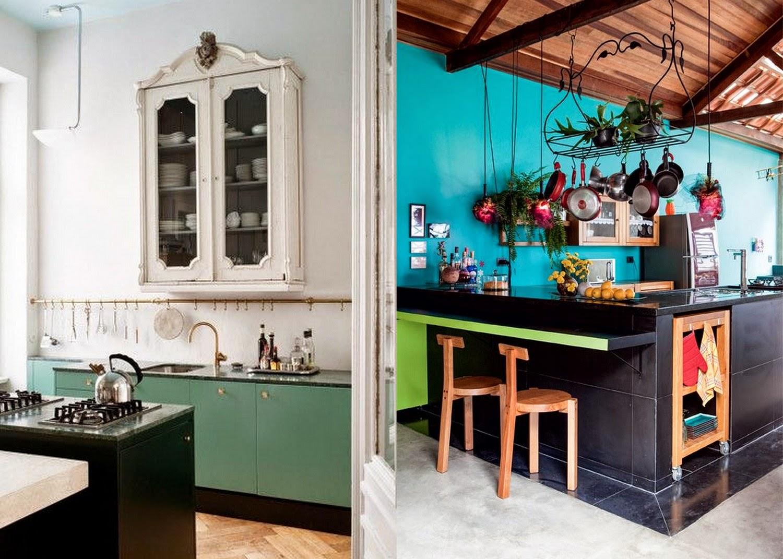 The Modern Bohemian Black Kitchen