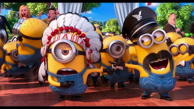 Minions Village People YMCA Despicable Me 2 2013 animatedfilmreviews.filminspector.com