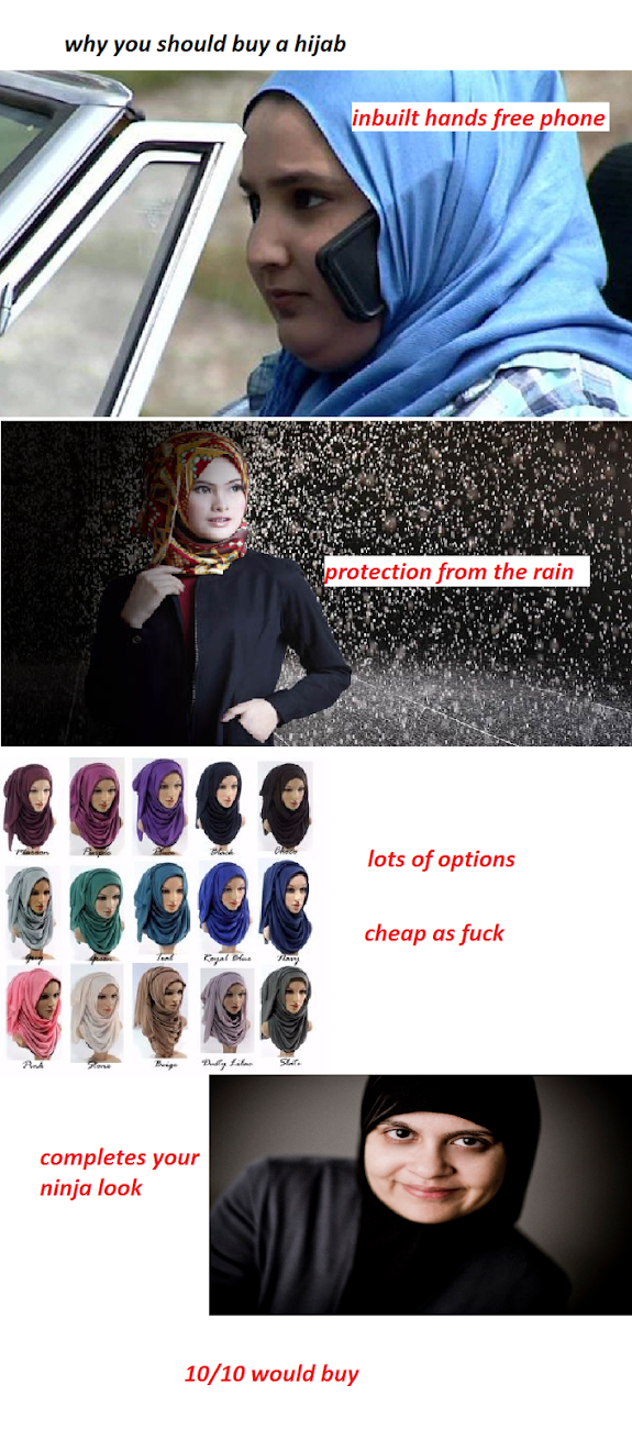 Why you should buy a hijab meme joke picture