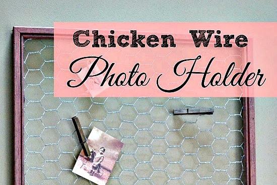 Simple Chicken Wire Photo Holder