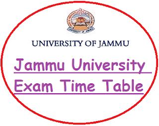 Jammu University Date Sheet 2020