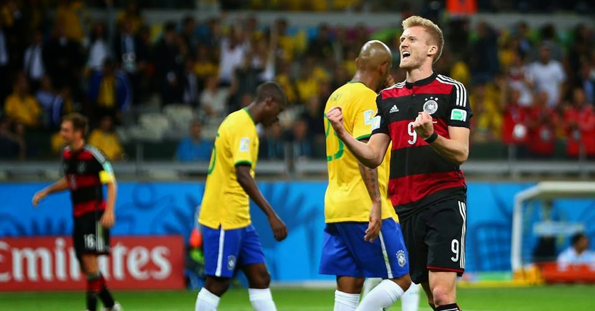 Germany defeated hosts Brazil 7-1 in the semi-finals of the 2014 World Cup.