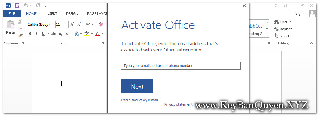 Cài đặt Microsoft Office Pro Plus 2013 bản quyền