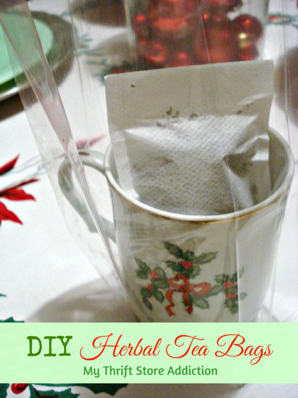 DIY herbal tea bag gifts