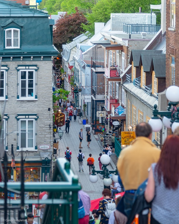 Quebec City, Canada Photo by Corey Templeton. May 2018. Photo by Corey Templeton. From this past May, a view of part of the famous Quartier Petit Champlain in Quebec City.