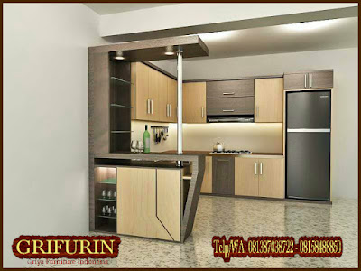 Harga Jasa Pembuatan Furniture Kitchen set HPL minimalis