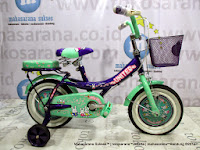 12 Inch United My Music Kids Bike Green