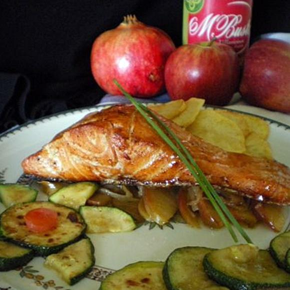 Salmon Con Manzanas