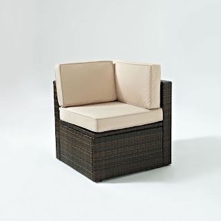 Crosley Palm Harbor Outdoor Wicker Corner Chair