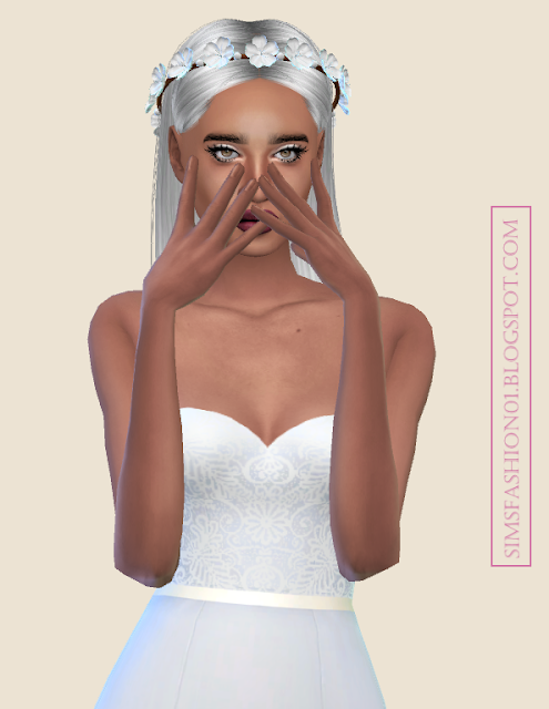 SimsFashion01 - Floral Wedding Dress