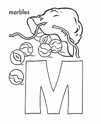 Letter M Coloring Page 14