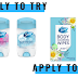 Shopper Army Product Testing Panel - Apply to test Secret Deodorant and Secret Body Cleansing Wipes