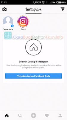 buat akun instagram baru