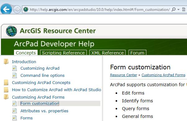 The ArcPad Team Blog: ArcPad Customization Help is now Online