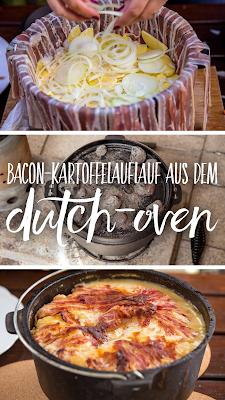 Bacon-Kartoffelauflauf aus dem Dutch-Oven | Outdoor Kitchen | Rezept Dutch Oven