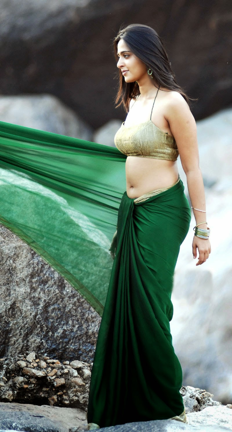 Anushka Shetty Hot Navel Show In Green Saree Latest Indian Hollywood Movies Updates Branding Online And Actress Gallery