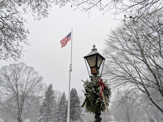 on the Town Common in a recent snow
