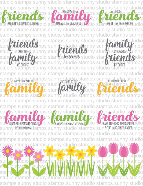 Sunny Studio Stamps: Introducing Friends & Family Stamps & Dies Examples