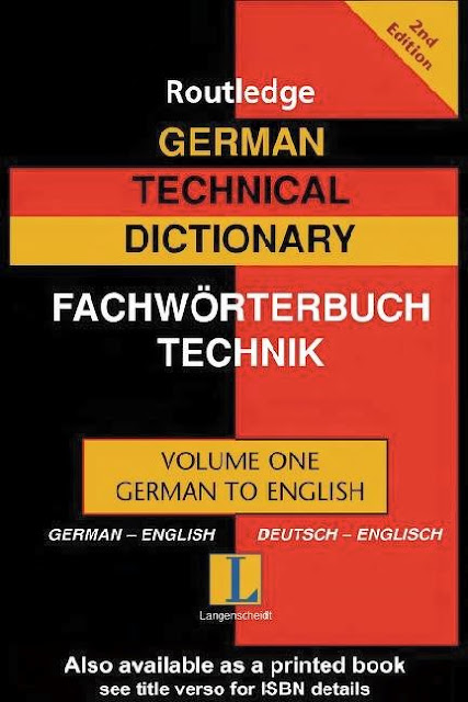 German Technical Dictionary Wörterbuch für Technik Englisch